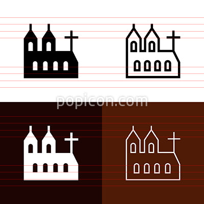 Cathedral Icon Set