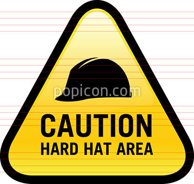 Caution Hard Hat Area Sign Icon