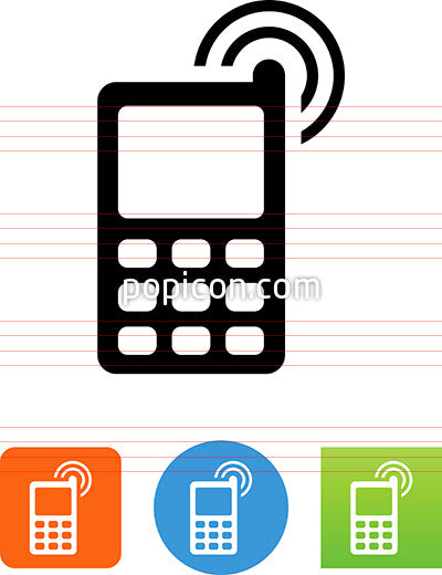 Cell Phone With Antenna Icon