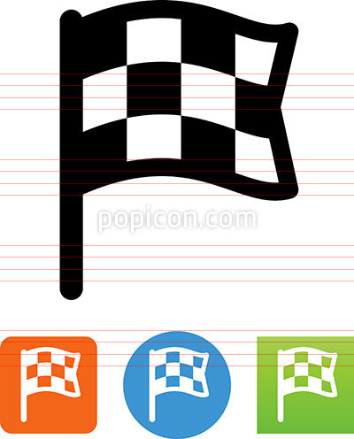 Checkered Flag Finish Icon