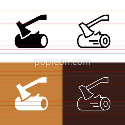 Chopping Wood Icon Set