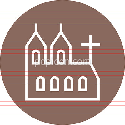 Church Cathedral Building Outline Icon