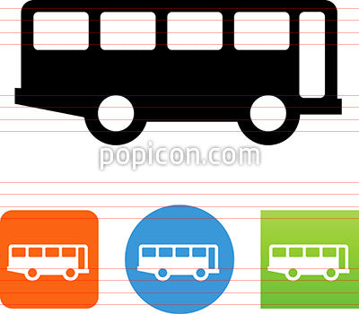 City Bus Side View Icon