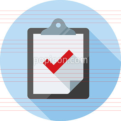 Clipboard With Checkmark Icon in Circle
