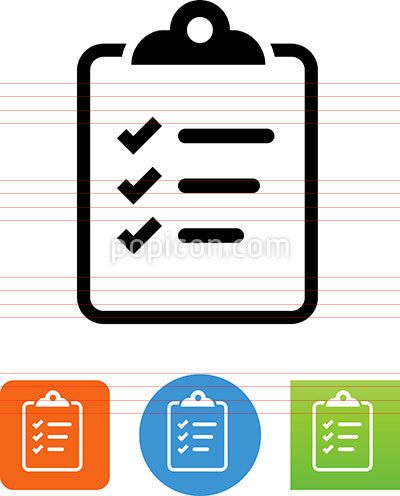 Clipboard With Checkmarked List Icon