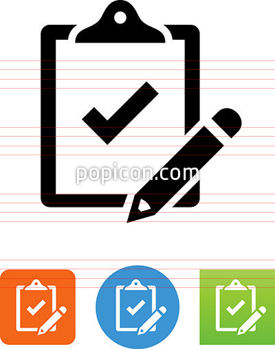 Clipboard With Pencil Icon
