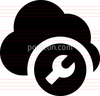 Cloud Configure Vector Icon