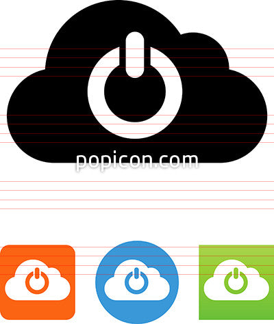 Cloud Power Icon