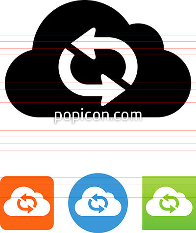 Cloud Repeat Arrow Icon