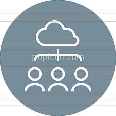 Cloud Resource Hierarchy Outline Icon