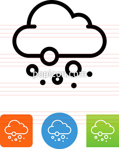 Cloud Snowing Icon