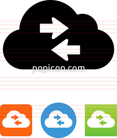 Cloud Transfer Arrow Icon