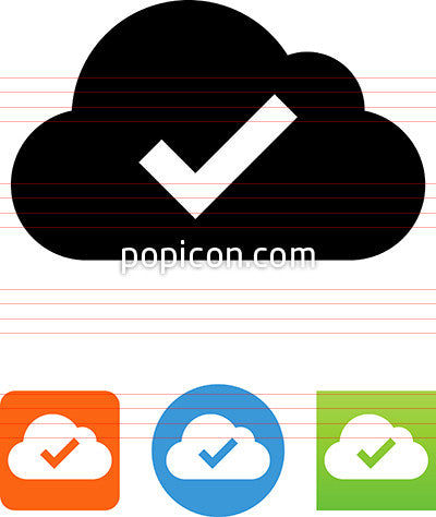 Cloud With Checkmark Icon