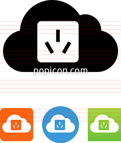 Cloud With Chinese Socket Icon