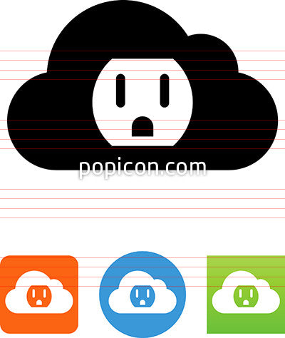Cloud With Socket Icon
