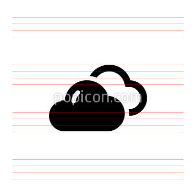 Cloudy - Pixel Perfect Icon