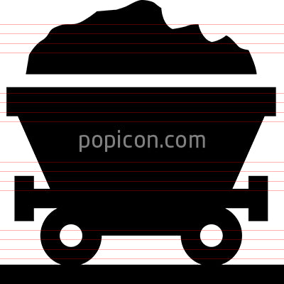 Coal Fossil Fuel Vector Icon