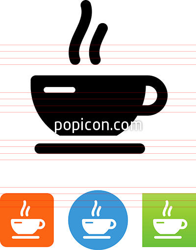 Coffee Cup With Aroma Icon