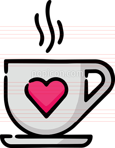 Coffee Cup With Heart Doodle Sketch Icon Popicon ✓ free for commercial use ✓ high quality images. coffee cup with heart doodle sketch icon popicon