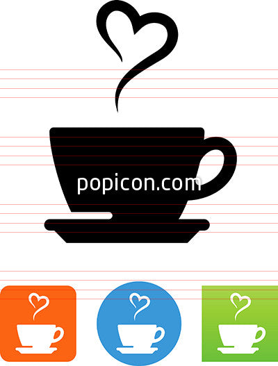 Coffee Cup With Heart Icon