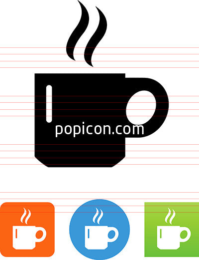 Coffee Cup With Steam Icon