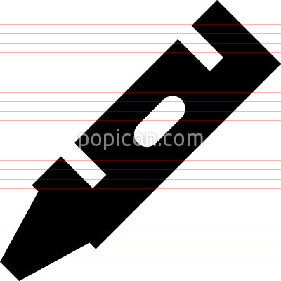 Coloring Book Crayon Vector Icon