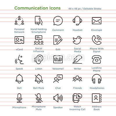 Communication Icons - Outline