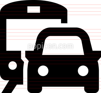 Commuter Vector Icon