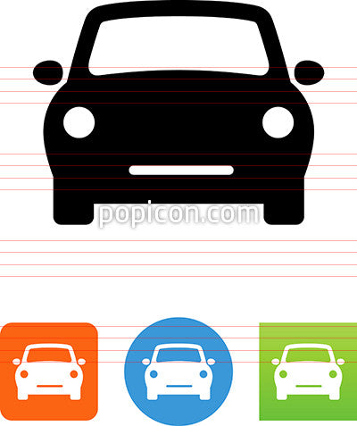 Compact Car Front View Icon