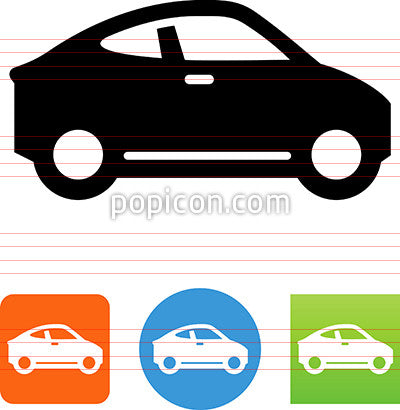 Compact Car Side View Icon