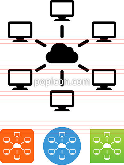 Computer Cloud Network Icon