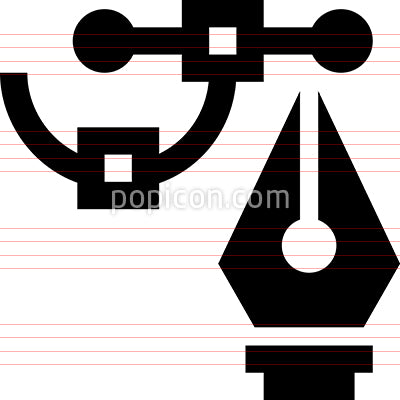 Computer Graphics Pen Tool Icon