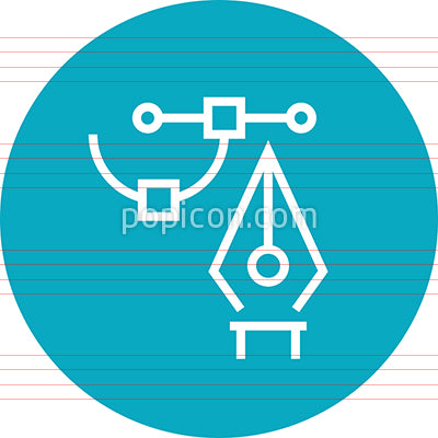 Computer Graphics Pen Tool Outline Icon