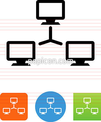 Computer LAN Network Icon