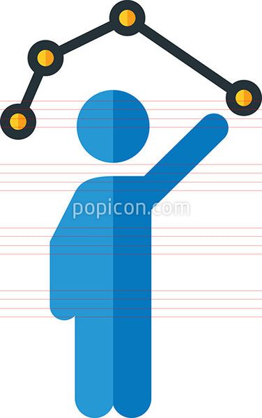 Connect The Dots Icon - Flat Color Series