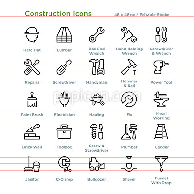 Construction Icons - Outline