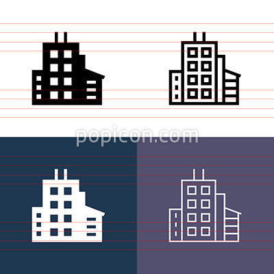 Contemporary Building Icon Set