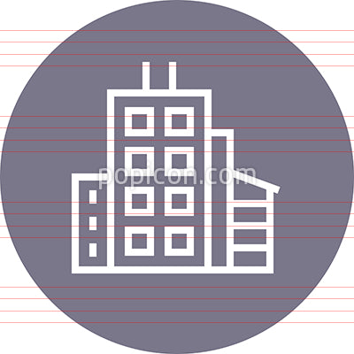 Contemporary Modern Building Outline Icon
