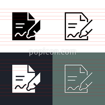 Contract Icon Set