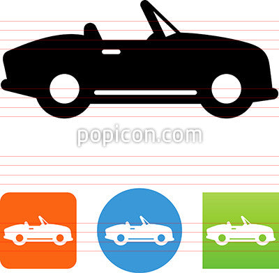 Convertible Side View Icon