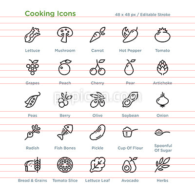 Cooking Icons - Outline