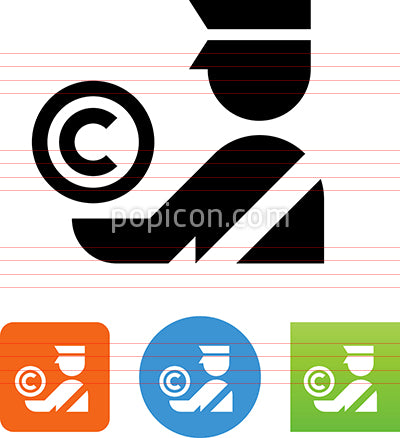 Copyright Protection Intellectual Property Theft Icon