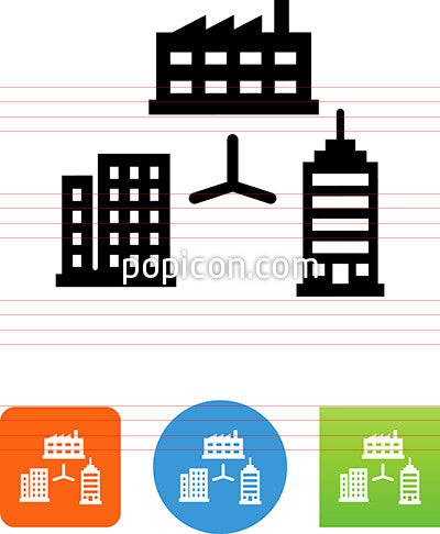 Corporate Intranet Network Icon
