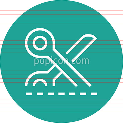 Coupon Dashed Line Outline Icon