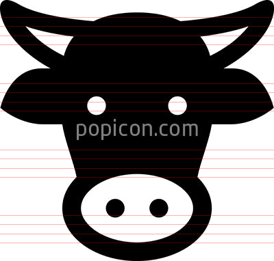 Cow Head Vector Icon