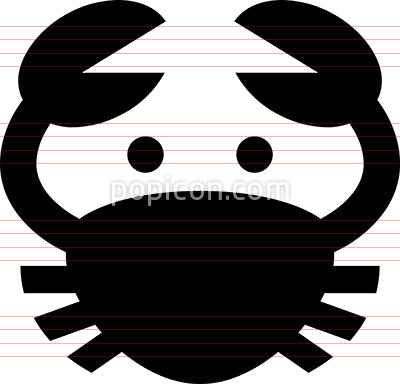 Crab Shellfish Vector Icon