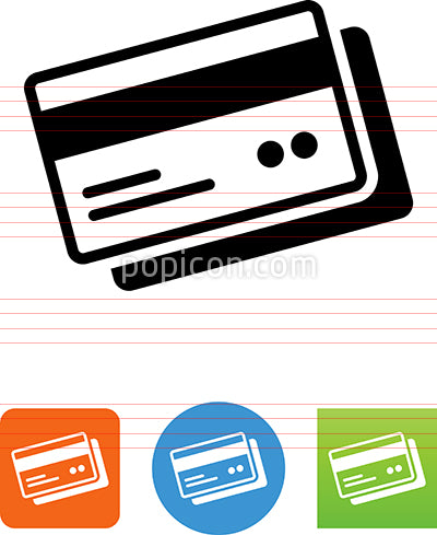 Credit Card Back Sides Up Icon