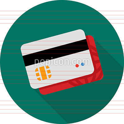 Credit Card With EMV Chip Icon