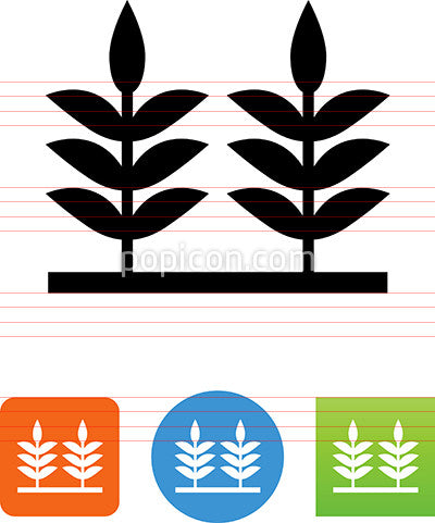Crop Field Icon
