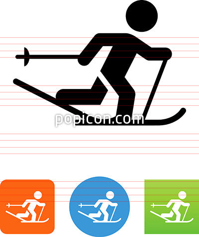 Cross Skier Icon